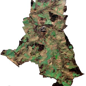 Gmina Sulików (woj. dolnośląskie) z satelity Sentinel 2A (7 grudnia 2015 r.)