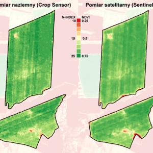 Crop Sensor vs SatAgro